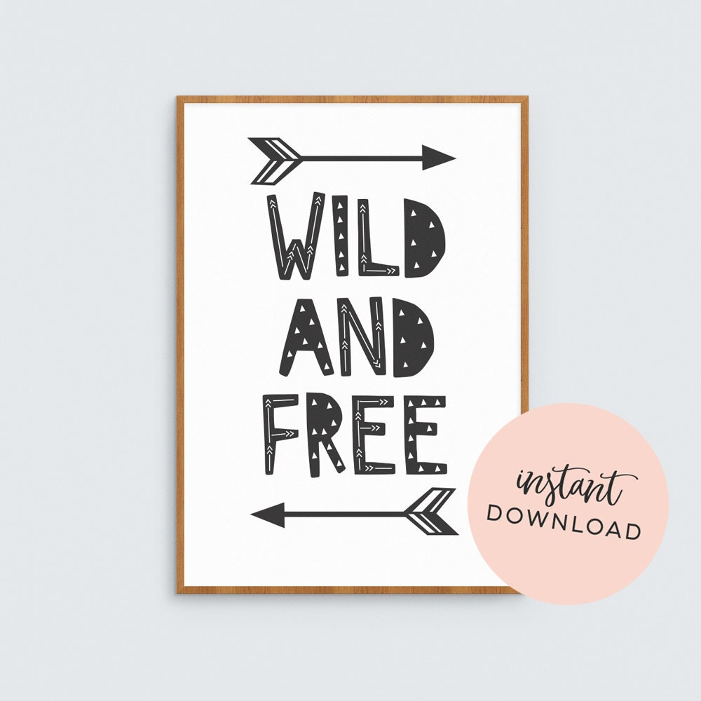 photo about Free Printable Arrows referred to as Wild and totally free tribal printable little ones artwork // Downloadable artwork print