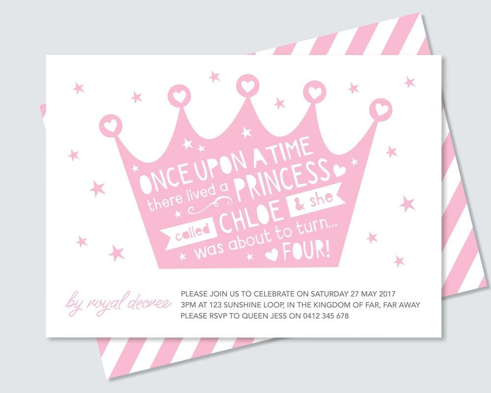 Crown Princess Birthday Invitation // Any age printable invitation ...