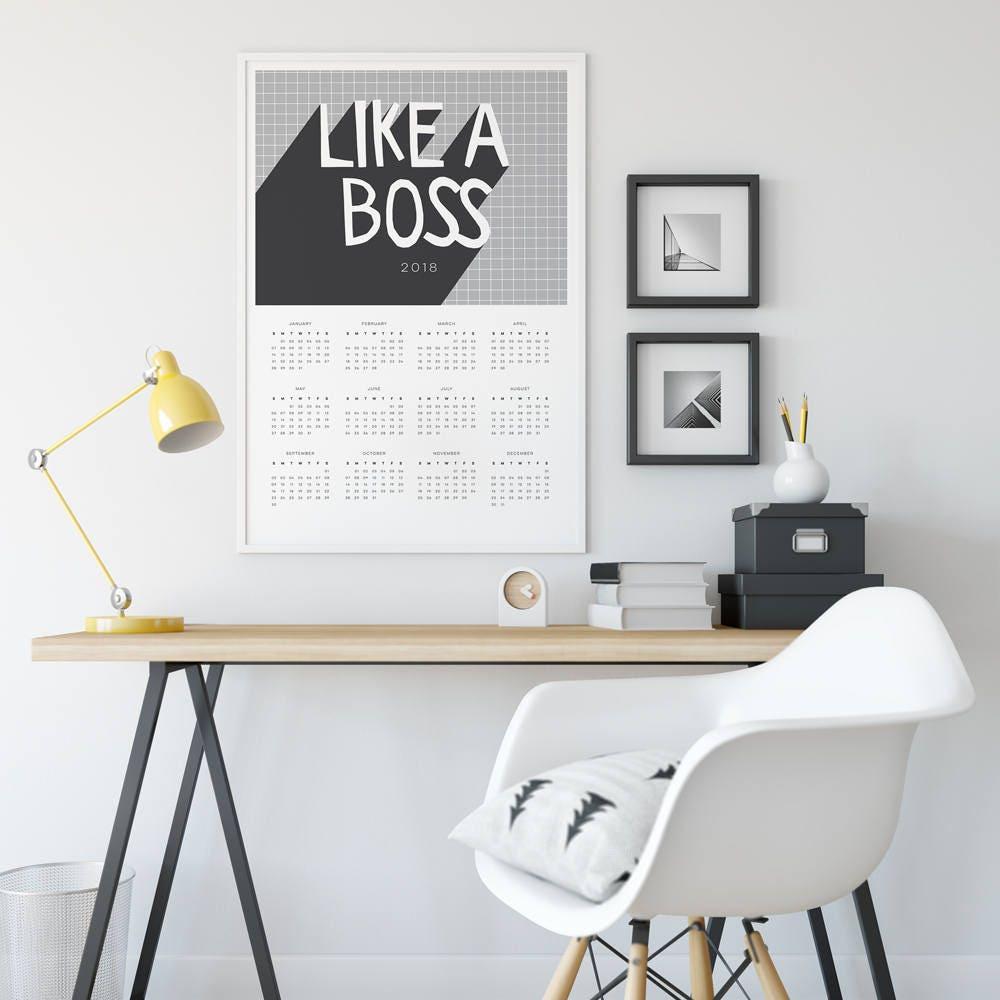 Calendar Typography Examples : Calendar poster like a boss available in a or a size
