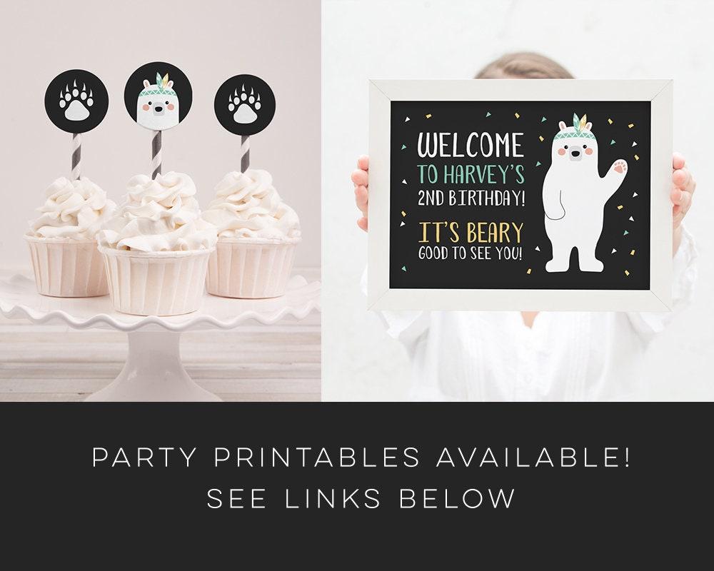 Bear Cub Birthday Invitation / Wild one Party Invitation / Man Cub ...