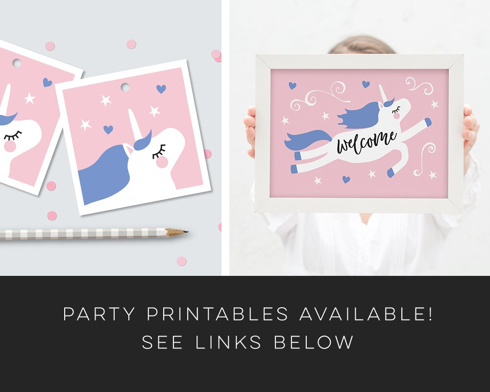 Unicorn Invitation Party Printable Girl S Unicorn Birthday