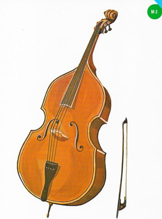 Vintage Cello Musical Instrument Print Midcentury 1960 Cello Classic Cello String Instrument Goodness
