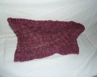Dusky pink knitted mobius cowl