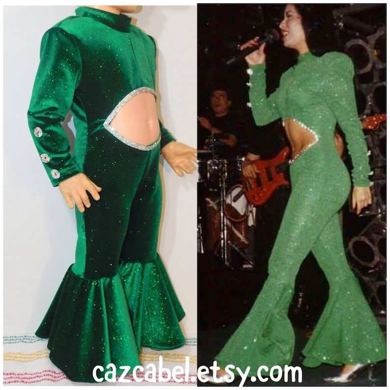 a4804293386e Selena Inspired Green Jumpsuit