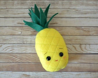 """7"""" Pineapple Plush Pillow / doll size accent pillow"""