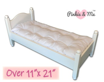LARGE Custom Doll's Mattress And Pillow / Made To Order Pillowtop Mattress For Antique Doll Bed, Crib, or Cradle