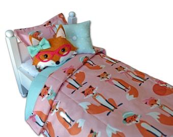 Miss. Fox Doll Bedding Set / 18 inch Doll Bedding