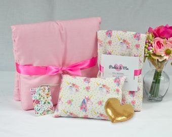 18 Inch Doll's Bedding Set - Unicorn Doll Bedding Gift Set - Gift For A Girl - Doll Bedding for American Girl
