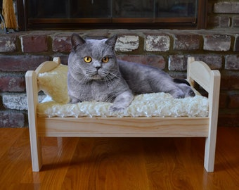Pet Mattress Pad And Pillow fits Ikea Duktig Doll Bed / Bed padding for cat, dog, rabbit or small animal