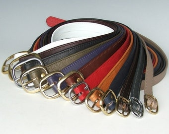 "3/4"" Soft Leather Belts - strong and durable"