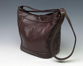 Sheila bucket bag - burgundy pictured