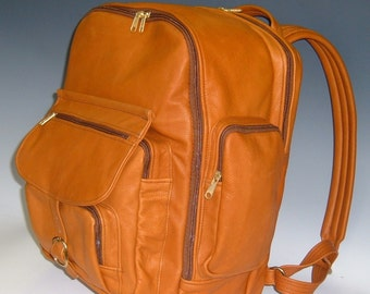 Laptop Backpack - Light Brown