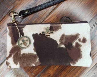 SHIPS ASAP Myra Genuine Leather Hairon Golden Foil Print Mini Wallet