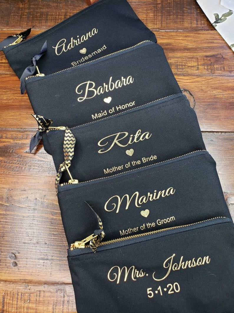 Bridesmaids Gifts personalized pouches