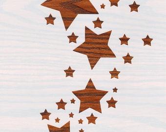 Flock of Butterflies Stencil Card Making Air Brush Reusable Mylar 190 Micron