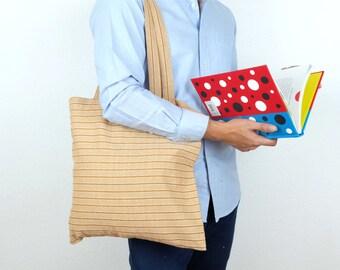 Stripe Summer Caramel Tote Bag