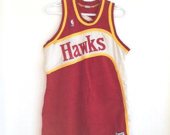 02e3fb50d Atlanta Hawks Vintage Authentic Sandknit Basketball Jersey