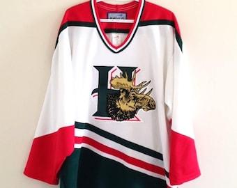 Halifax Mooseheads Vintage Bauer Hockey Jersey 27d5bd1a3