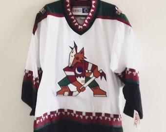 bbcb34c79 Deadstock Phoenix Coyotes Vintage CCM Hockey Jersey NWT