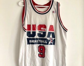 678ff9d98b93d Michael Jordan Vintage Champion USA Dream Team Basketball Jersey