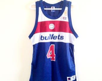 Washington Bullets Wizards Champion NBA 50th Anniversary Basketball Jersey