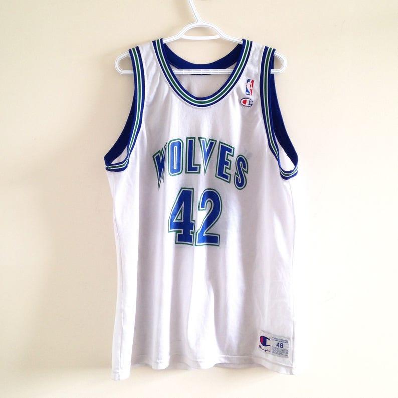 Minnesota Timberwolves Champion Basketball Jersey Etsy