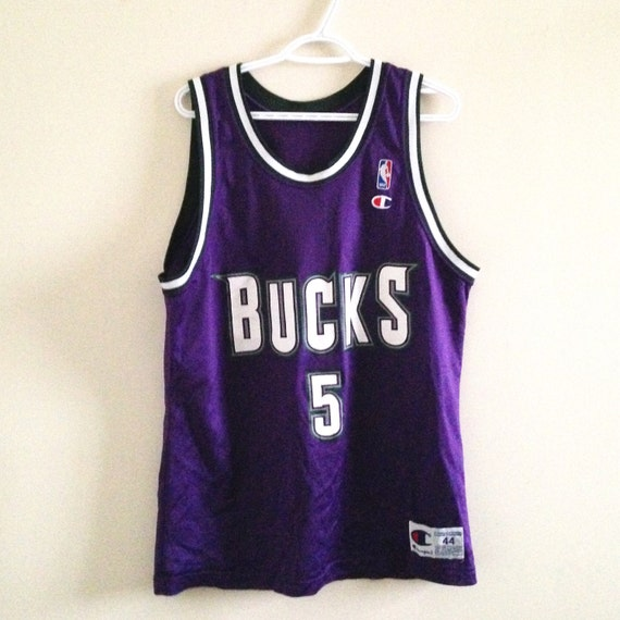 competitive price d45c8 a4c16 Milwaukee Bucks Champion Basketball Jersey