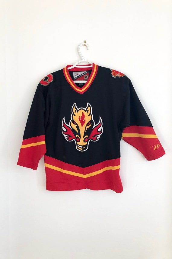 Calgary Flames Vintage Pro Player Alternate Jersey Etsy