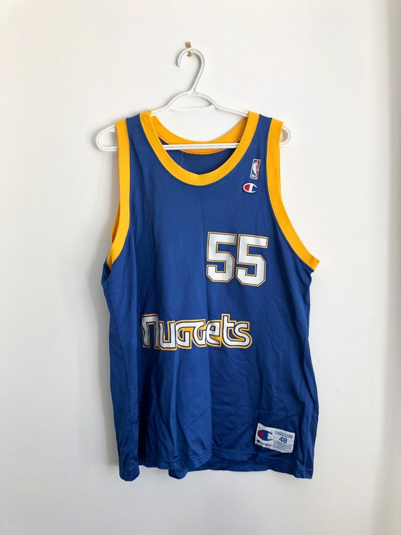 size 40 8c2f8 cc02d Dikembe Mutumbo Denver Nuggets Vintage Champion Basketball Jersey
