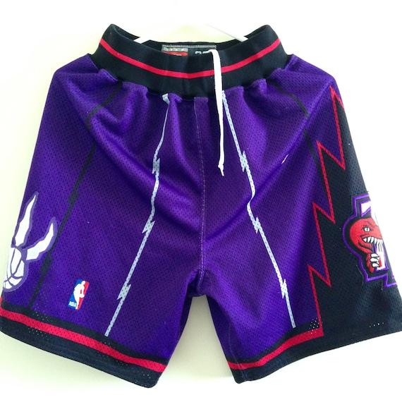 Basketball Game Shorts Men/'s Sports Pants Vintage Purple Retro Toronto Raptors