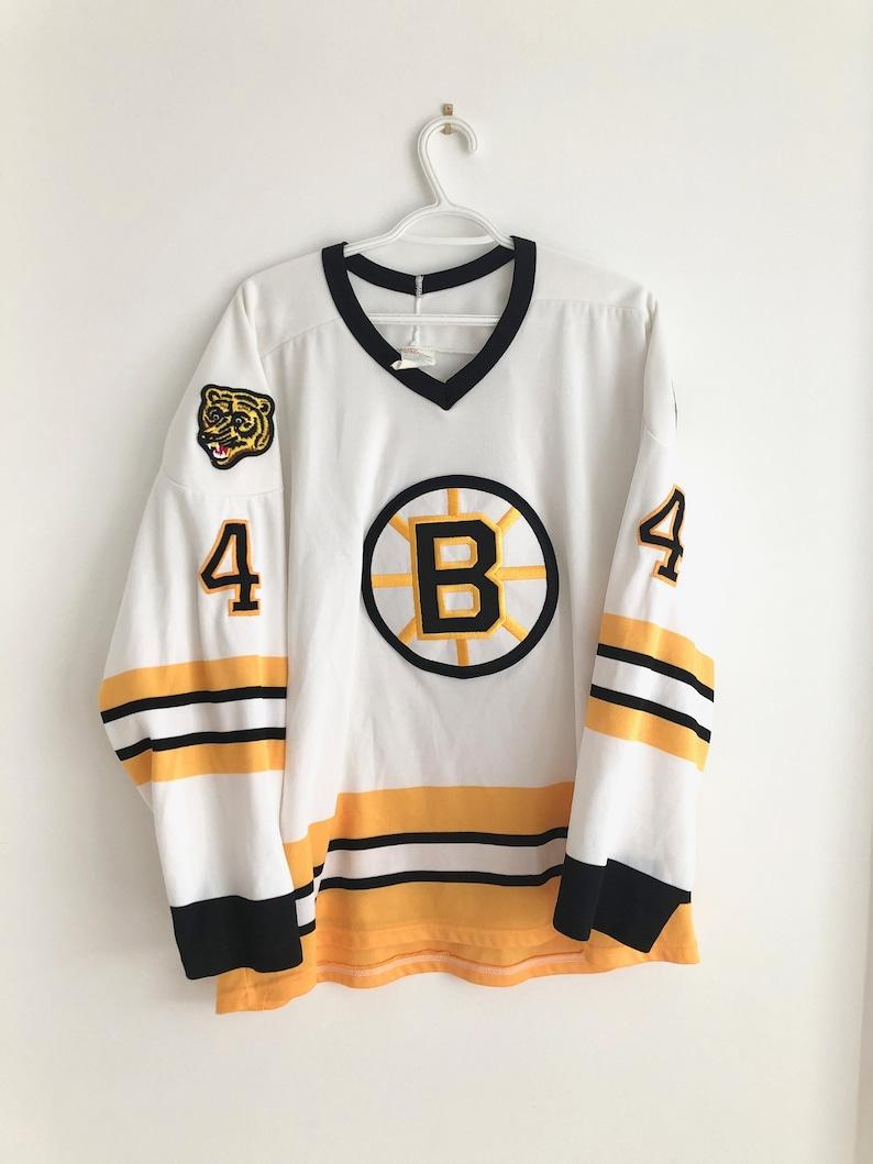 size 40 77dc8 13e1f Boston Bruins Vintage CCM Bobby Orr Hockey Jersey