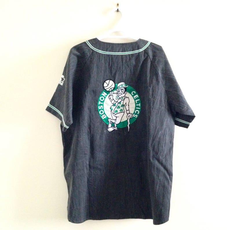 7d788a3892cb Deadstock Boston Celtics Vintage Starter Button Up Baseball