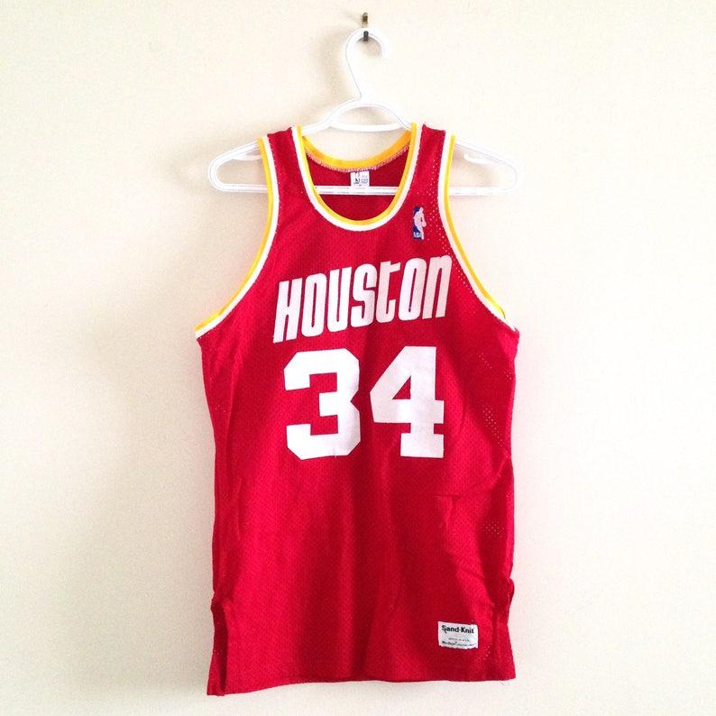 sale retailer d8d20 08a9f Houston Rockets Vintage Sandknit Basketball Jersey