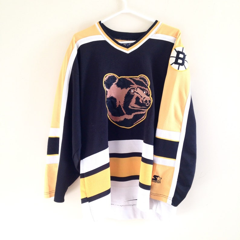 db721b86611 Boston Bruins Vintage Starter Pooh Bear Hockey Jersey | Etsy