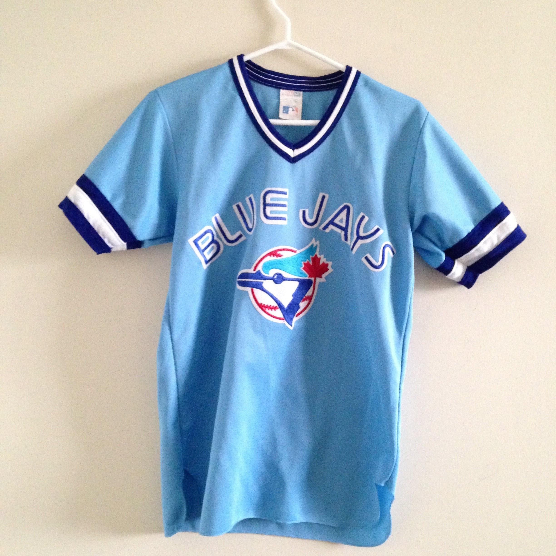 newest f09f2 d79d5 Toronto Blue Jays Vintage CCM Pullover Baseball Jersey