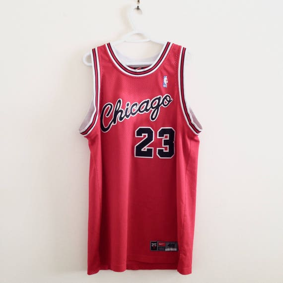san francisco 35f20 f36ed Chicago Bulls Michael Jordan Vintage Nike Authentic Basketball Jersey