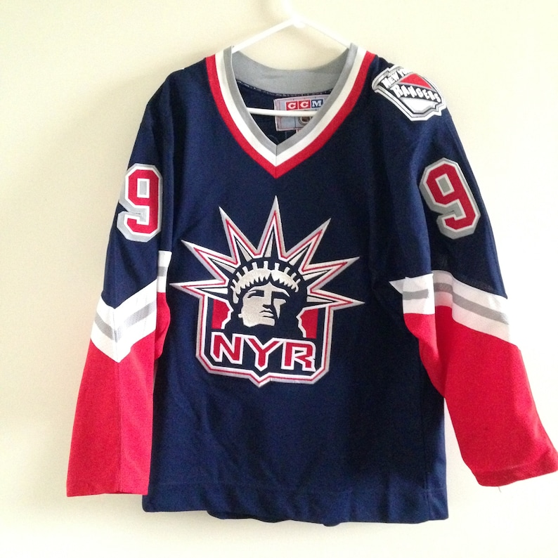 best website eb1c6 3c1f9 New York Rangers Wayne Gretzky Vintage CCM Lady Liberty Hockey Jersey