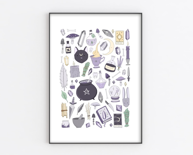 witchy things art print