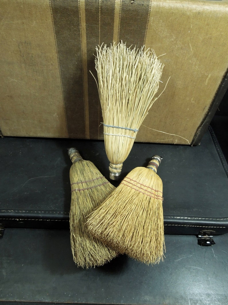 Hanging Wall Art Country Cottage Rustic Display Cleaning Prop 3 Whisk Brooms Vintage Farmhouse Decor