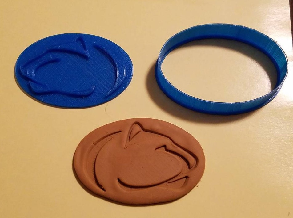 Penn State Nittany Lion Cookie Cutter with Detail Impression