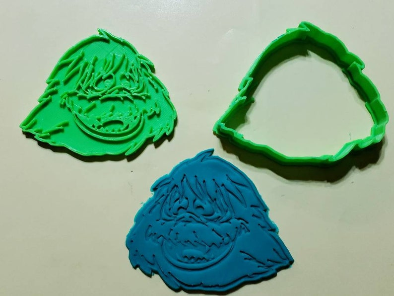 Abominable Snowman Cookie Cutter With Detail Impression Disc Rudolph The Red Nose Reindeer Cookie Cutter Fondant Candy Soap Cutter
