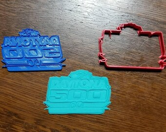 Nascar Daytona 500 Cookie Cutter with Detail Impression Disc/Fondant/Candy/Soap Cutter