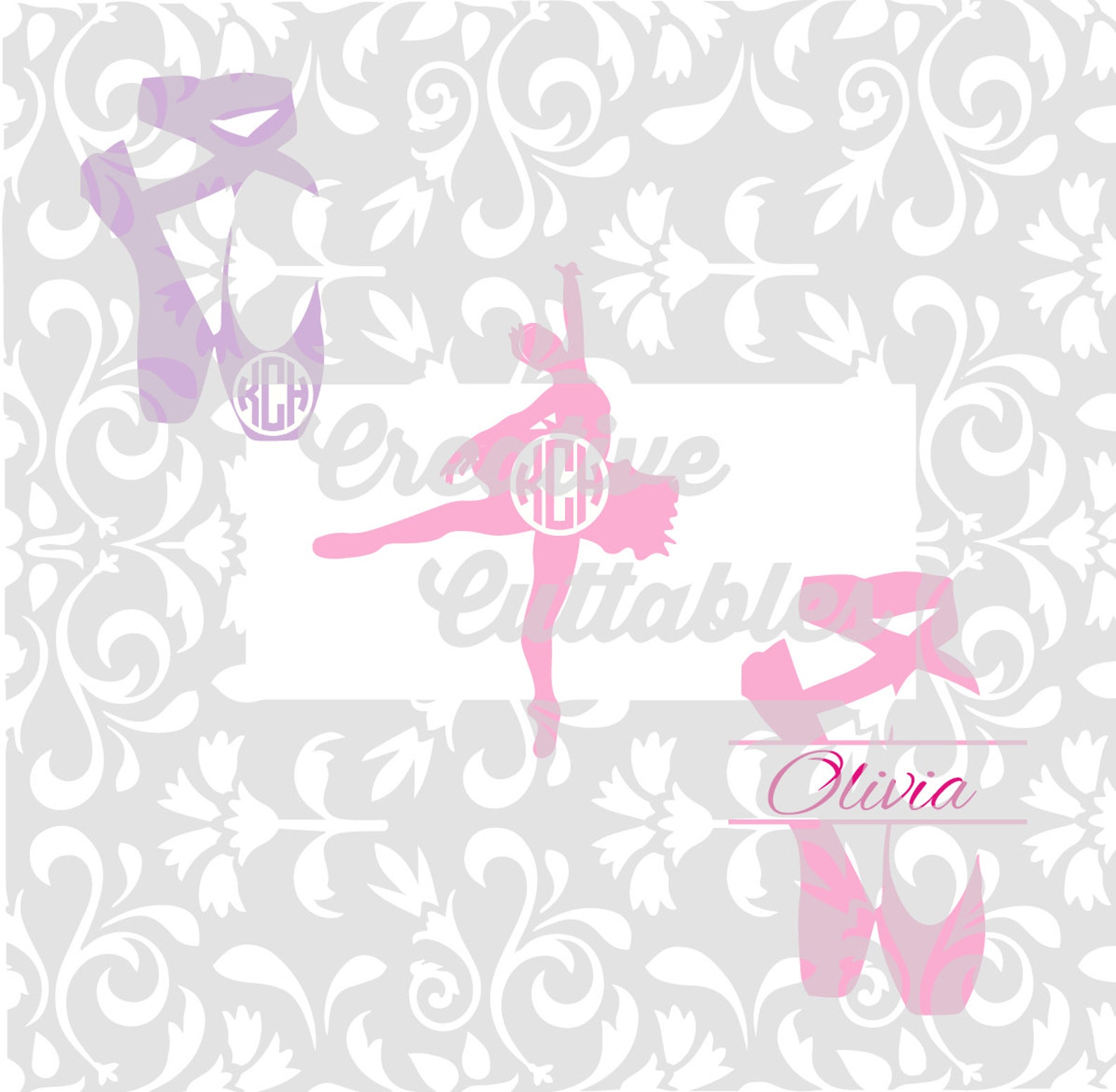 ballerina dancer ballet svg shoes for silhouette or other craft cutters (.svg/.dxf/.eps)
