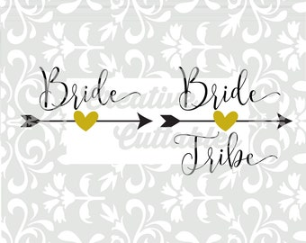 Wedding SVG Bride Tribe etc for Monogramming for use with Silhouette or other craft cutters (.svg/.dxf/.eps)