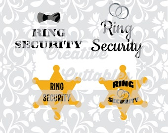 Wedding Titles Ring Security etc for Monogramming for use with Silhouette or other craft cutters (.svg/.dxf/.eps)