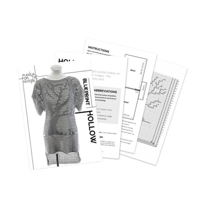 PDF Crochet Pattern Mesh tree t-shirt pattern Hollow
