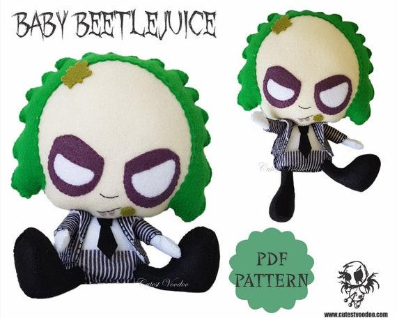 Pdf Pattern Baby Beetlejuice Horror Felt Sewing Pattern Etsy
