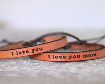 Couples Valentines Day Gift -Leather Cuff - Boho Bracelet - Leather bracelet - Child Leather Bracelet - Valentines Day Gift