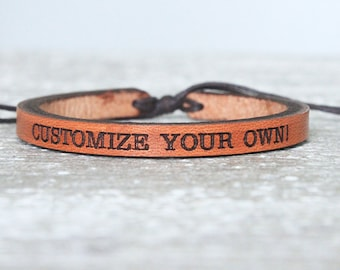 Women's leather bracelet-  -Personalized- Valentine's gift for women- mother's day- Boho Leather Bracelet - Boho Bracelet - Leather bracelet