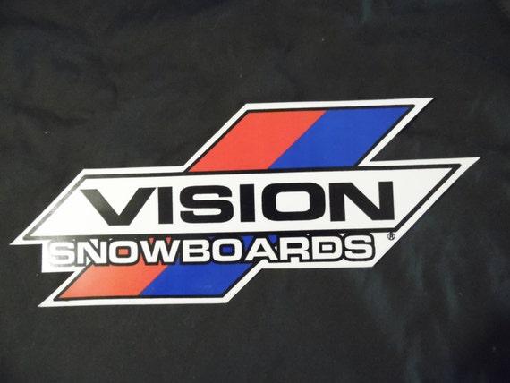"Vision street wear Snowboard / skateboard NSA grand Vintage des années 80 autocollant 16 ""X 6"" Rare"